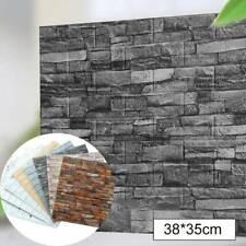 10 Stück 3D Fliesen Ziegel Wandaufkleber Selbstklebende Wasserdichte Tapete