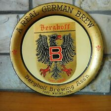 1917 PRE PROHIBITION BERGHOFF BREWING ASS'N BEER TIP TRAY / FORT WAYNE, IND. WWI