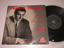"10"" LP/FRANCO CORELLI/RECITAL PUCCINIANO/Cetra LPV 45021"