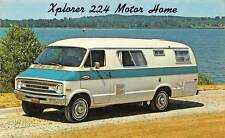 XPLORER 224 MOTOR HOME, FRANK INDUSTRIES MI ADV PC, ATTICA KS DEALER c 1970's