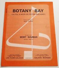 Partition vintage sheet music MORT SHUMAN : Botany Bay * 70's