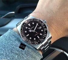 Parnis submariner Automático de Hombre con Dial Rojo GMT 40mm de lujo Diver Watch UK