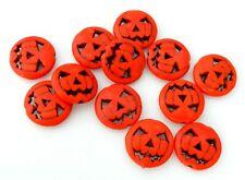 20 Orange Magnesite 15mm Jack O Lantern Carved Pumpkin Halloween Beads