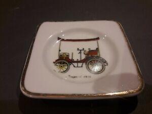 Ancien Cendrier vide poche Publicitaire Peugeot 1895 En Porcelaine De Paris
