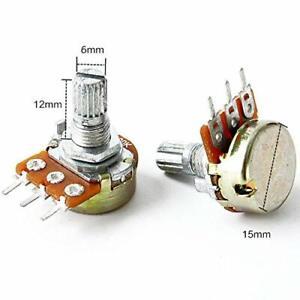 Potentiometer Resistor x 2 Linear B Pot 1k 2k 5k 10k 20k 50k 100k 250K 500K 1M
