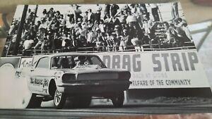 PSHYCO FORD MUSTANG FUNNY CAR AT LIONS   8X12 PHOTO   DRAG RACING PHOTO