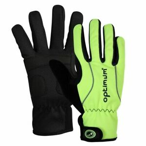 Optimum Sports Hawkley Winter Cycling Gloves Padded & Reflective -Black