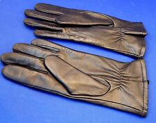 Fownes Black Leather Ladies Lined Gloves Size 7 1/2 Excellent Condition