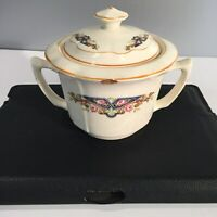 ANTIQUE Sugar Bowl with Lid;K.T&K.IVORYFloral design from K.T&K. China, Ohio
