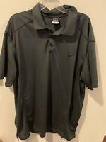 Nike Golf Dri Fit Performance Short Sleeve Dark Gray Polo Shirt Sz 2XL