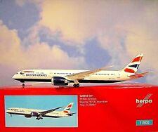 Herpa wings1:500 Boeing 787-9 British Airways g-zbkm 528948-001 modellairport500