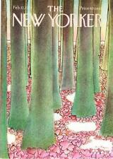 1975 Andre Francois Heart-Shaped Leaves in Forest art New Yorker Magazine COVER