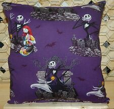 Nightmare Before Christmas Pillow Jack Skellington & Sally Pillow HANDMADE USA