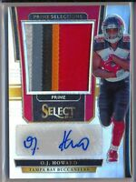 O.J. HOWARD - 2017 Select Rookie Prime Selection 5 Color AUTO /49  Buccaneers RC