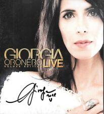 """GIORGIA - 2 CD + DVD CON AUTOGRAFO """" ORONERO LIVE DELUXE EDITION """""""