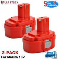 2-Pack For Makita 18V Ni-CD Battery 1822 1823 1834 1835 PA18 192826-5 192829-9