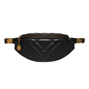 Versace Matelasse Icon Quilted Leather Belt Bag Black MSRP $1295 Great Condition