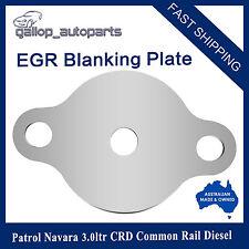 EGR Blanking Block Off Plate Patrol Navara 3.0ltr CRD ZD30 Common Rail Diesel