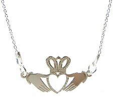 FASHIONS FOREVER® 925 Sterling Silver Claddagh-Sign Necklace-Pendant, Made In UK