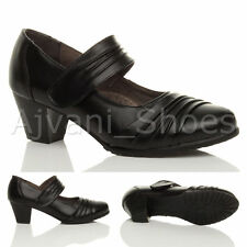 Mary Jane Cuban 100% Leather Upper Shoes for Women