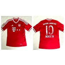 ADIDAS Bayern Munich Home 2012 ROBBEN #10 Camisa Soccer Maillot MUNCHEN~Sz SMALL