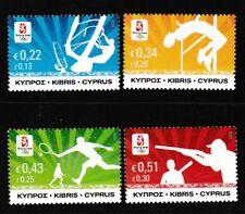 Beijing Olympics mnh 4 stamps 2008 Cyprus #1097-1100 Sailboarding Tennis Hi Jump