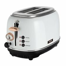 Tower T20016W Bottega Stainless Steel 2 Slice Toaster 810W - White & Rose Gold