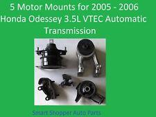 5 Motor Mounts for 2005-2006 Honda Odessey 3.5L VTEC Engine Automatic Transmissi