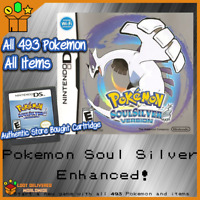 Pokemon Soul Silver All 493 Pokemon included Enhanced! Nintendo 3ds
