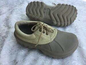 CROCS All Terrain Lace Up Leather Top Shoes Womens Sz M6/W8 -UK 6
