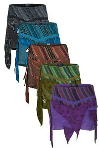 New Layered Pixie Pointed Wraparound Mini Skirt with attached Purse