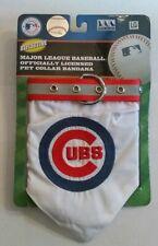 MLB Chicago Cubs Baseball Reflective Adjustable Pet Collar Bandana Size Large