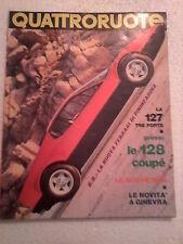 fascicolo quattroruote marzo 1972