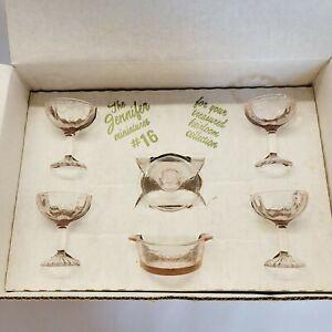 Mosser Glass Miniatures-Jennifer Set #16 in  Pink