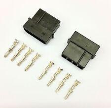 Pacco da 2-MASCHIO 4 PIN MOLEX PC PSU POWER SUPPLY connettore-Nero Inc PIN