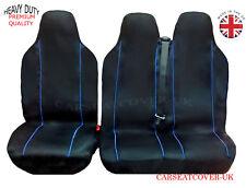 TOYOTA PROACE (16 ON) HEAVY DUTY BLUE TRIM VAN SEAT COVERS - SINGLE + DOUBLE