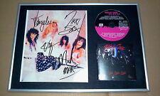 Motley Crue Girls Girls Girls CD Frame Hand Signed Photo ! Coa