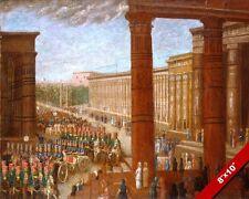 PHAROAH'S ARMY MARCHING 19TH CENTURY PAINTING ART REAL CANVAS GICLEEPRINT