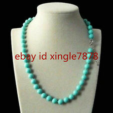 """Fashion 8mm Blue South Sea Shell Pearl Round Gemstone Jewelry Necklace 20"""" AAA"""