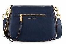 NWT  MARC JACOBS $450 LARGE NAVY BLUE RECRUIT NOMAD SADDLE CROSSBODY BAG