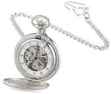 Charles-Hubert Paris Satin Finish Mechanical Pocket Watch