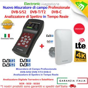 SAT FINDER MISURATORE DI CAMPO COMBO DVB-T2 DVB-S2 PARABOLA TV SCR OFFERTA STOCK