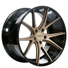 (4-pcs) 20 Staggered Azad Wheels AZ36 Bronze W Black Popular Rims