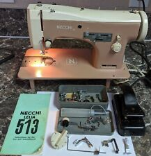 Necchi Lelia 513 Vintage Sewing Machine Tested and Working with accessory case