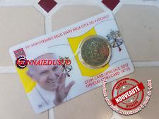 50 Cent Coincard Euro Vatican 2019 - Pape Francois