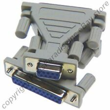 Lot10 DB25~DB9pin Female~F Jack cable/cord/wire/port Adapter RS232/C Serial {TT