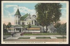 Postcard MARTINSVILLE Indiana/IN  Whiting Mineral Springs Sanitarium view 1920's