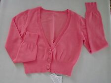 Dunnes Girl's Cropped V-Neck Cardigan Sweater size 9 yrs New