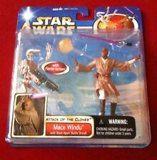 Star Wars: Attack Of The Clones - Mace Windu With Battle Droid - 2-Pack Set