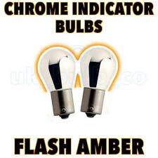 2x Chrome front Indicator Bulbs Ford Fiesta VI 08--> o
